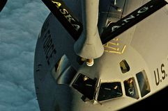 ALASKA AIR GUARD REFUELING MISSION royalty free stock image