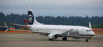 Alaska Airlines Image stock