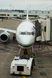 Alaska Airlines Flight Boarding Stock Photos