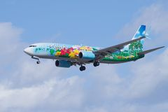 Alaska Airlines-` Geist des Inseln ` Lizenzfreies Stockfoto