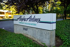 Alaska Airlines headquarter. At Seattle International Airport Stock Photos
