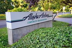 Alaska Airlines headquarter. At Seattle International Airport Royalty Free Stock Image