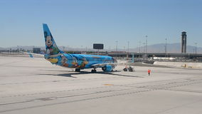 Disneyland Alaska Airlines in McCarran international airport, USA, stock video