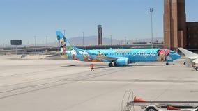 Alaska Airlines in McCarran international airport, USA, stock video footage