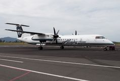 Alaska Airlines operated by Horizon Air commercial aircraft stock photo