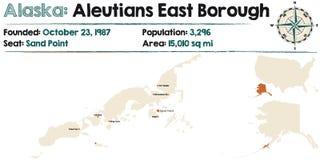 Alaska: Aleutians wschodu podgrodzie ilustracja wektor