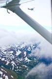 Alaska - att flyga som är litet, hyvlar från Homer Arkivfoto