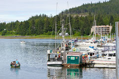 Alaska - Auke Bay Harbor Marine Fuel Station Stock Photography