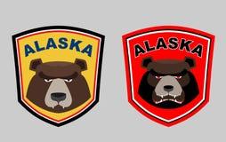Alaska bear. Set logos for hunting or sports team. Vector illust Royalty Free Stock Image