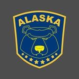 Alaska bear. Stripe or emblem depicting muzzle of a bear. Alaska Stock Image