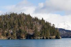 Alaska berg på Kenaien Pennsula royaltyfria foton