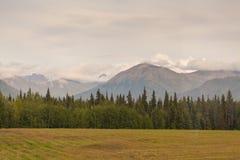 Alaska bergskedja royaltyfri fotografi