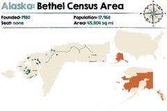 Alaska: Bethel spisu ludności teren Zdjęcia Stock