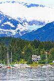 Alaska - Boats in Auke Bay Juneau Stock Image