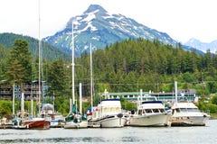 Alaska - Boats in Auke Bay Marina Juneau Stock Image