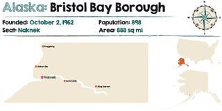 Alaska: Bristol zatoki podgrodzie ilustracja wektor