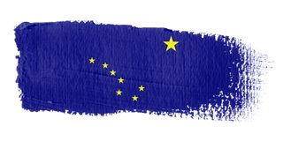 alaska brushstroke flagę Fotografia Stock