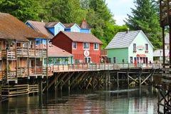 Alaska - casa de Dollys da rua da angra, 2 de compra Fotografia de Stock Royalty Free