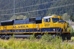 Alaska Coastal Classic Train. Alaska Railroad Coastal Classic Train picks up passengers in Seward and delivers them in Denali Royalty Free Stock Photos