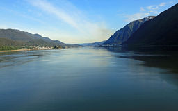 Alaska coastline at Juneau Stock Image