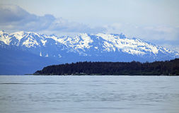 Alaska coastline at Juneau Royalty Free Stock Photo