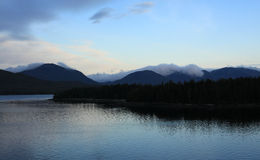 Alaska coastline at Ketchikan Stock Photo