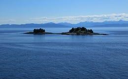 Alaska coastline at Ketchikan Stock Photos