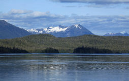 Alaska coastline at Ketchikan Stock Image