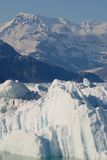 Alaska Columbia Glacier Steadily Shrinking Royalty Free Stock Photography