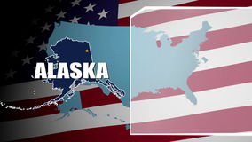 Alaska Countered Flag and Information Panel stock video