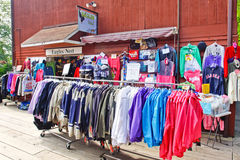 Alaska Creek Street Clothes Shopping Ketchikan Stock Image