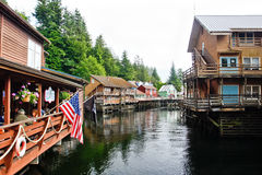 Alaska - Creek Street Dining Stock Photo