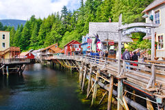 Alaska - Creek Street Entrance Ketchikan Stock Photos