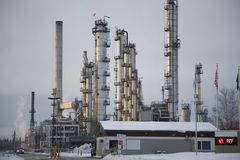 Alaska crude refinery Stock Photography