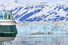 Alaska Cruise Outside with Glaciers Stock Photo