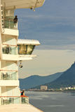 Alaska - Cruise Ship Balcony View of Juneau Royalty Free Stock Photography