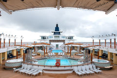 Alaska cruise ship deck Royalty Free Stock Photo