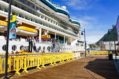 Alaska - Cruise Ship Dock Side in Juneau Stock Photo