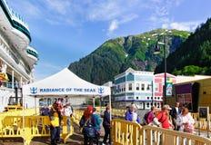 Alaska - Cruise Ship Passengers Juneau Stock Photos