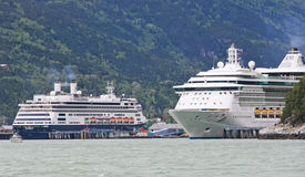 Alaska Cruise Ships Radiance, Amsterdam Stock Photos