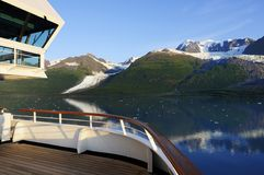 Alaska cruise tour. View of Alaska landscape from a cruise ship Royalty Free Stock Photography