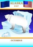 Alaska dagaffisch stock illustrationer