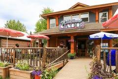Alaska das Wildflower-Café im Stadtzentrum gelegenes Talkeetna Lizenzfreie Stockfotografie