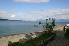 Alaska de cruzamento Fotografia de Stock Royalty Free