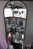 Alaska De Havilland Utter cockpit Arkivfoton