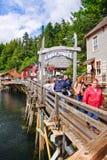 Alaska - de Ingang Ketchikan 2 van de Straat van de Kreek Stock Foto's