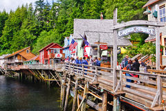 Alaska - de Promenade Ketchikan van de Straat van de Kreek Stock Afbeeldingen