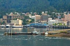 Alaska - de Waterkant Juneau Van de binnenstad stock foto's