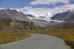 Alaska Denali highway in autumn. September Stock Image
