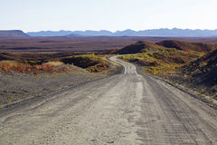 Alaska Denali highway in autumn Stock Photo